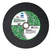 "12"" x 1/8""(5/32) x 1"", 20mm Cut-Off Wheel with Dual Arbors for Portable Gas Saw - Double Reinforced - Masonry, Mercer Abrasives 605050 (10/Pkg.)"