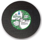 "12"" x 1/8""(5/32) x 1"" Extra Heavy-Duty, High Speed Cut-Off Wheel for Portable Gas Saw - Masonry - Triple Reinforced, Mercer Abrasives 608010 (10/Pkg.)"