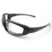 ERB Ammo Safety Glasses, Black Foam Lined, Clear Anti-Fog Lens 15410 (12 Pr.)