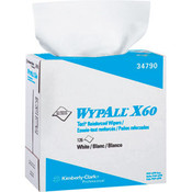 WypAll® X60 Wipers, Pop-Up Box, White, 10 Boxes/126 ea