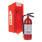 5 lb ABC Pro Line Fire Extinguisher w/ Mark I Jr. Cabinet, Red Tub/Red Cover