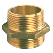 Male x Male Brass Hexagon Nipple