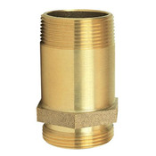 "Pin Rack Nipple, 1 1/2"" NPT x NST, Brass"