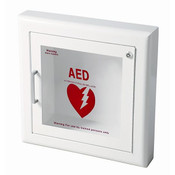 Life Start™ Series AED Semi-Recessed Wall Cabinet w/Siren