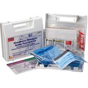 24-Piece Bloodborne Pathogen/Body Fluid Spill Kit, Plastic Case