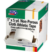 "Athletic Tape, Non-Porous Cloth, 1"" x 5 yds, 10 Rolls/Box"