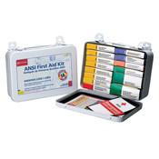 16-Unit, 103-Piece Unitized First Aid Kit w/ Gasket, Metal