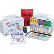 10-Unit, 64-Piece Unitized First Aid Kit w/ Gasket, Metal