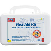 10-Person, 63-Piece Bulk First Aid Kit w/ Gasket (Plastic)