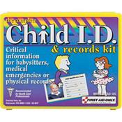 13-Piece Child ID & Records Kit (Plastic Case)