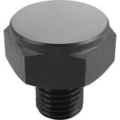 Kipp M12 Dia. X 24mm Length Positioning Feet with External Thread, Style A, K0298.110 (1/Pkg.)