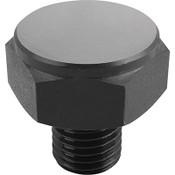 Kipp M12 Dia. X 29mm Length Positioning Feet with External Thread, Style A, K0298.115 (1/Pkg.)