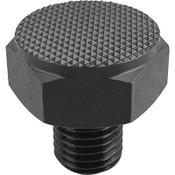 Kipp M12 Dia. X 24mm Length Positioning Feet with External Thread, Style C K0298.310 (1/Pkg.)