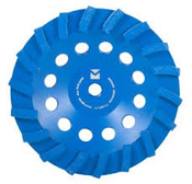 "Swirl Segmented Diamond Cup Wheels - 5"" x 5/8""-11, Mercer Abrasives 667500 (1/Pkg.)"