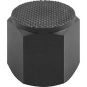 Kipp M12 Dia. X 25mm Length Positioning Feet with Internal Thread, Style F K0298.625 (1/Pkg.)