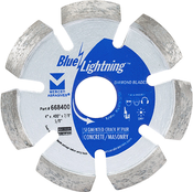 "Segmented Crack Repair Diamond Blades -  4"" x .400 x 7/8"", 5/8"", Mercer Abrasives 668400 (1/Pkg.)"