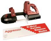 """Aggressor Port-A-Band Bi-Metal Portable Bandsaw Blades, Constant Pitch (B4424),  44 7/8"""" x 1/2"""" x 0.02"""", 18 Raker TPI (3/Pkg.)"""