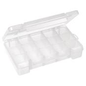 "Plastic Storage Case, 18 Compartments, 14 3/8""L x 2 1/2""H x 9 1/2""W"