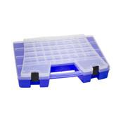 """Portable Storage Organizer, 62 Compartments, 18 1/2""""L x 3 3/8""""H x 13 1/8W"""