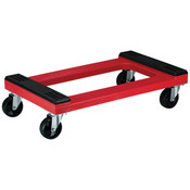 Padded Polyethylene Dolly with Casters, Red