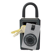 KeySafe™ Original Dial Lid Key Box (Portable), Titanium, Clamshell