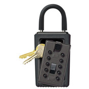 KeySafe™ Original Push-Button Lid Key Box (Portable), Black, Reshipper