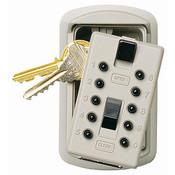 KeySafe™ Original Push-Button Key Box (Slimline), Titanium, Clamshell
