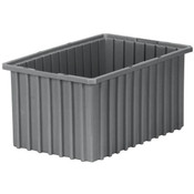 "Akro-Grid Dividable Grid Container, 16 1/2""L x 5""H x 10 7/8""W, Gray"