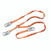 Miller Titan Shock-Absorbing Lanyard, Single Leg w/ Locking Rebar Hook