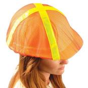 High-Vis Full-Brim Hard Hat Covers, Orange