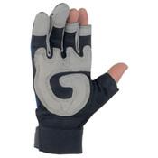 Memphis Fasguard Multi-Purpose 3 Fingerless Padded Palm Gloves, Large (1 Pair)