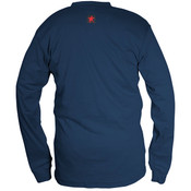 Max Comfort FR Long Sleeve Henley Shirt, Navy, 3X-Large