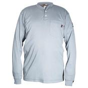 Max Comfort FR Long Sleeve Henley Shirt, Gray, Medium