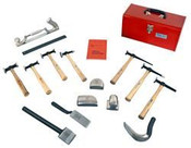 Auto Body & Fender Repair 15 Tool Set in Metal Tool Box
