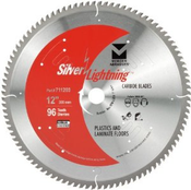 "12"" x 1"",5/8"" Miter/Slide Miter Saw Ultra Fine Finish Carbide Blades, Mercer Abrasives 711202 (1/Pkg.)"