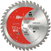 "4-3/8"" x 20mm Cordless Trim Saw Fine Finish Carbide Blades, Mercer Abrasives 714381 (1/Pkg.)"