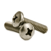 "#10-24 x 1"" Phillips Pan Head Machine Screws, 316 Stainless Steel (500/Pkg.)"