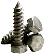 "1/2""-6x10"" Hex Lag Screw Low Carbon Hot Dip Galvanized (5/Pkg.)"