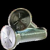 """1/2""""-13x2-1/2"""" Grade 5 Plow Bolts No.3 Head, Full Thread, Zinc (50/Pkg.)"""