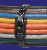 "11.3"" UV Black Nylon Calibrated Cobra Cable Ties 50 lb. (100/Bag)"