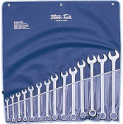 SET, Wrench, Combination, Chrome, SAE, 14 PC,