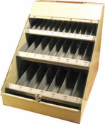 300 Piece Assortment, Type 190, Fractional Drill Bits in Metal Display Cabinet