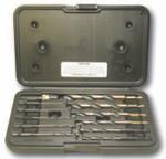 """12 Piece Type QR12-AG 1/4"""" Quick Release, Mechanic Length Drill Bit Set, Norseman Drill #34811"""