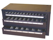 72 Piece Assortment, Type 190-AG, Jobber Length, Heavy Duty Letter Drill Bits with 3 Drawer Metal Cabinet