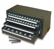 4 Drawer Silver & Deming Drill Bit Cabinet Only