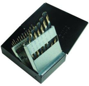 """21 Piece Type 178-AG, Mechanics Length, 3/8"""" Reduced Shank, Drill Bit Set with Metal Case, Norseman Drill #92340"""