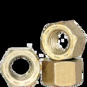 "1 1/2""-12 L-9 Hex Nut, Fine, Alloy, Cadmium Yellow & Wax (USA) (5/Pkg.)"