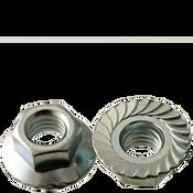 "1/4""-28 Hex Flange Nuts Serrated Fine Case Hardened Zinc Cr+3 (100/Pkg.)"