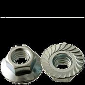 "1/2""-13 Hex Flange Nuts Serrated Coarse Case Hardened Zinc Cr+3 (100/Pkg.)"