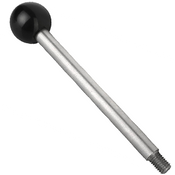"Kipp 1/4""-20 Gear Lever, Stainless Steel, Style A, 35 mm Length (1/Pkg.), K0179.12A2X35"